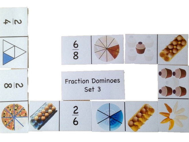 Fraction Dominoes Set 3