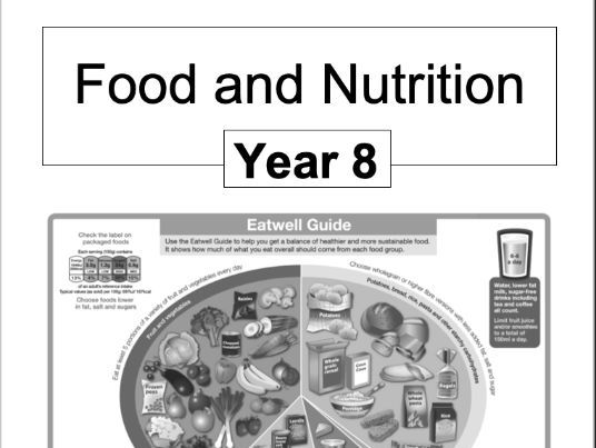 Food & Nutrition 8 lesson rotation booklet