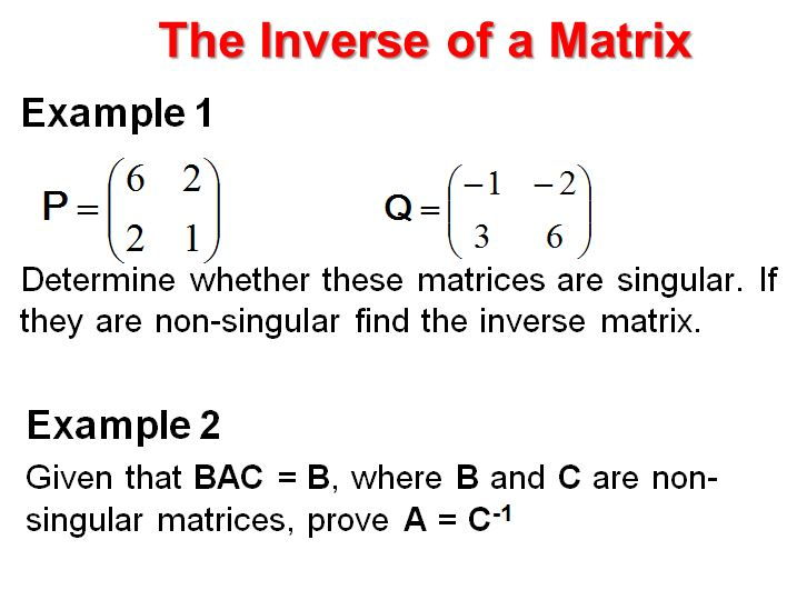 Matrices FP1 Edexcel Powerpoint collection