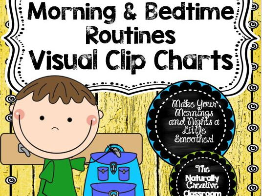 Morning and Bedtime Routine Visual Clip Chart