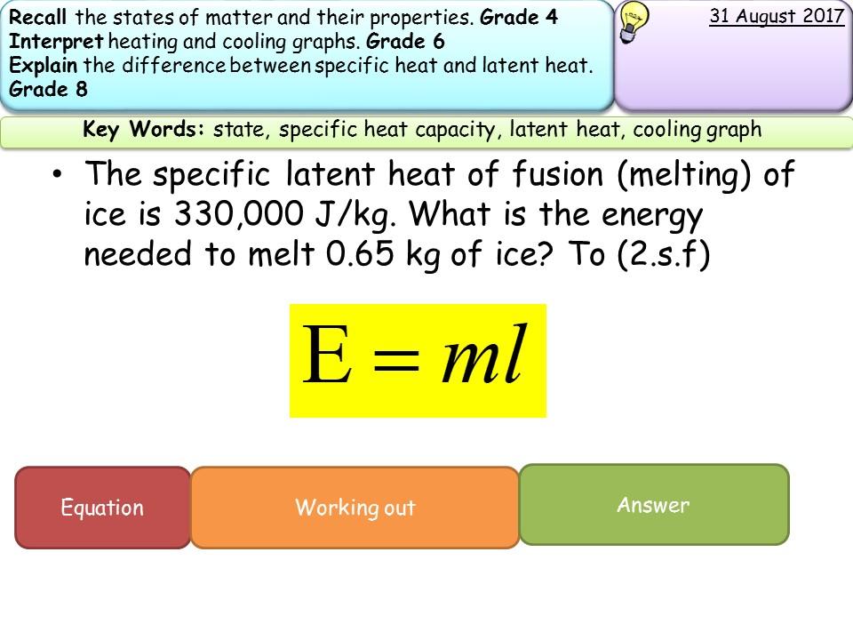 New Aqa Gcse Trilogy Physics Specific Heat Capacity And