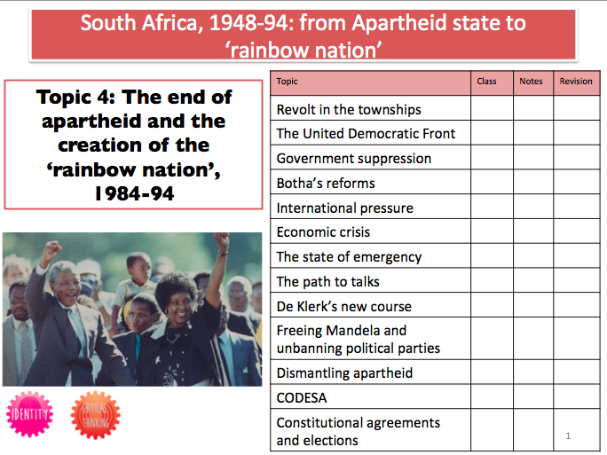 South Africa Booklet 4: The end of apartheid