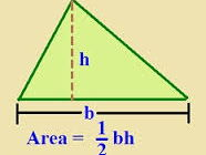 Area of triangle and compound of shapes