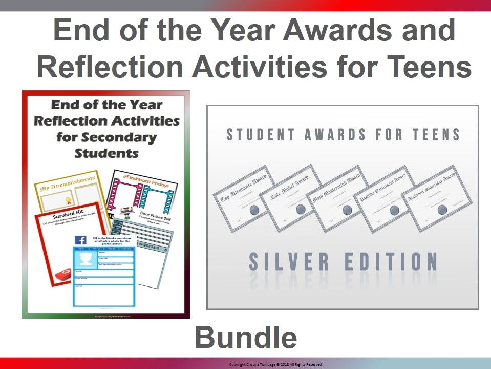 End of the Year Awards and Reflection Activities