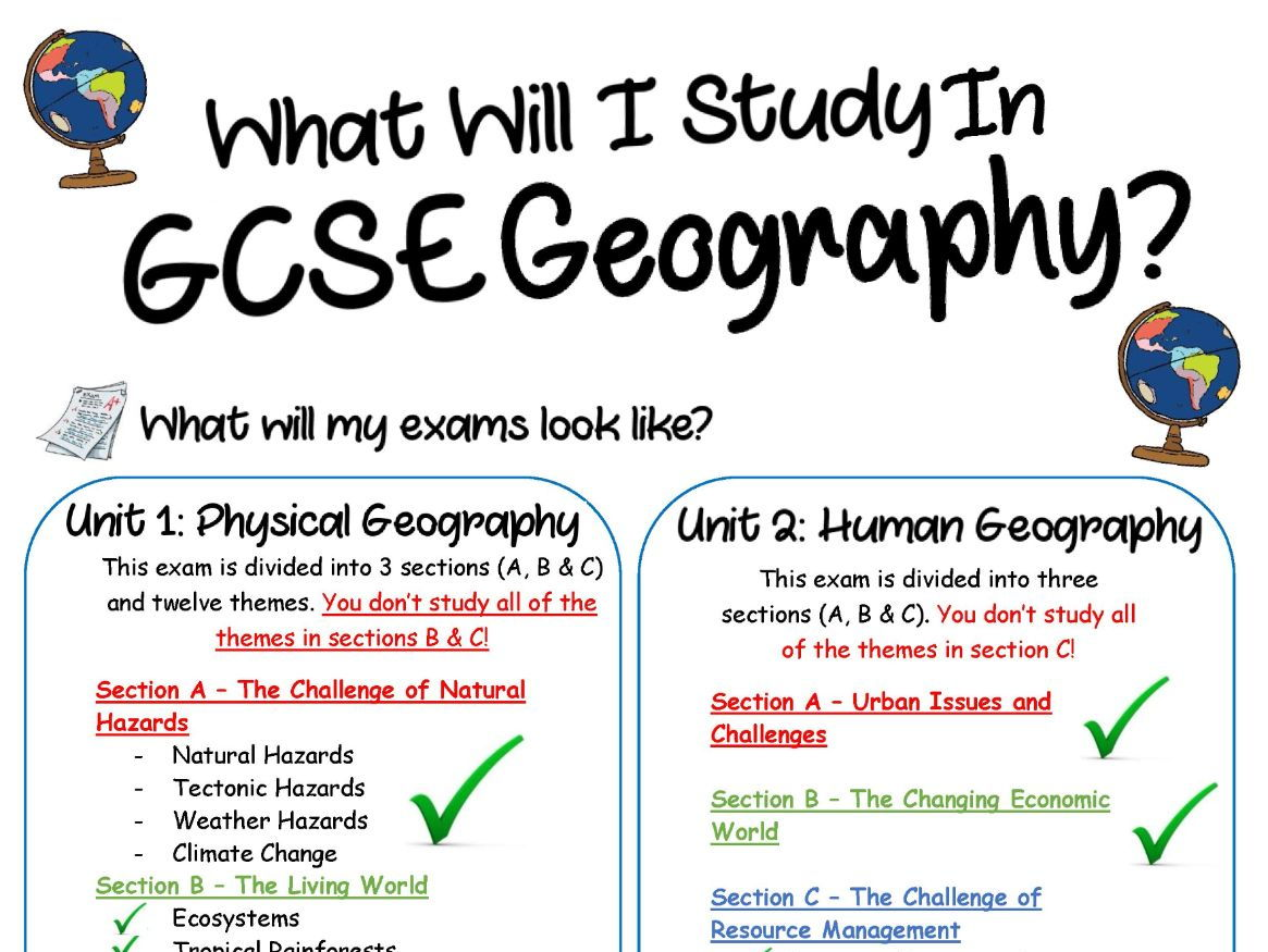 NEW 9-1 - AQA Geography Revision Guides/Poster