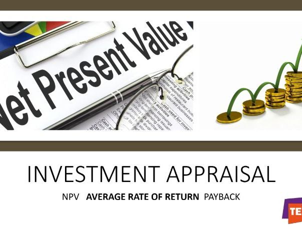 Investment Appraisal  powerpoint and revision notes and workbook