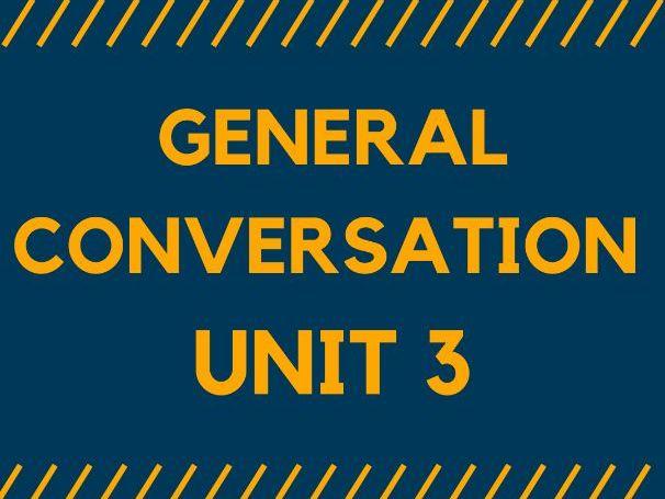 MODEL ANSWERS - GENERAL CONVERSATION. Unit 3 for GCSE SPANISH 1-9