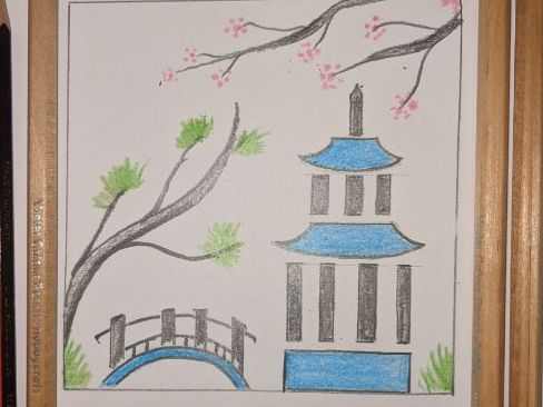 Chinese Pagoda (art lesson for year 3 and 4)