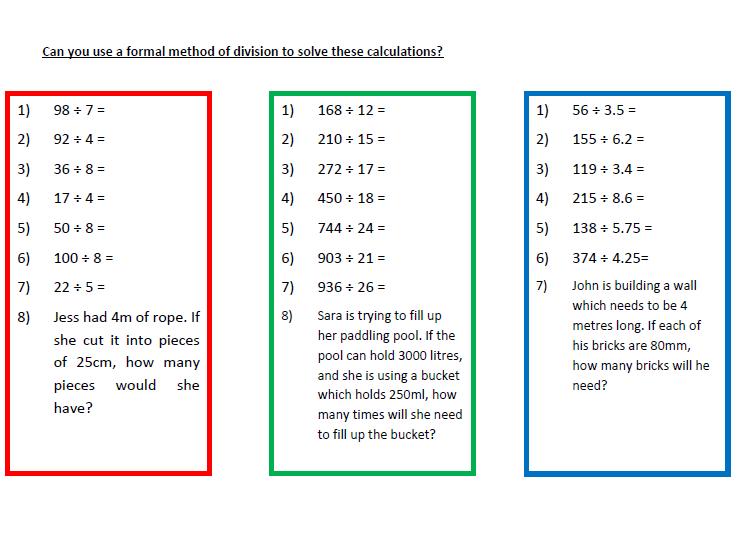 A Worksheet on Division (Formal Method)   (1)