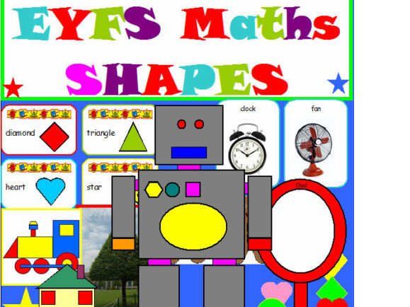 SHAPES EYFS RESOURCES AND 4 WEEKS  PLANNING