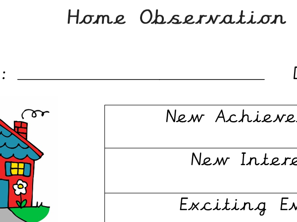 Home Observation Sheet