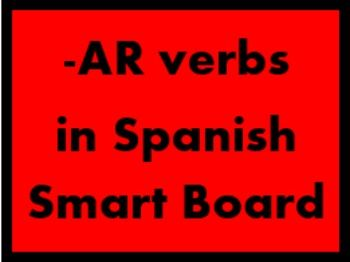 AR Verbs in Spanish Verbos AR Game board for Smartboard
