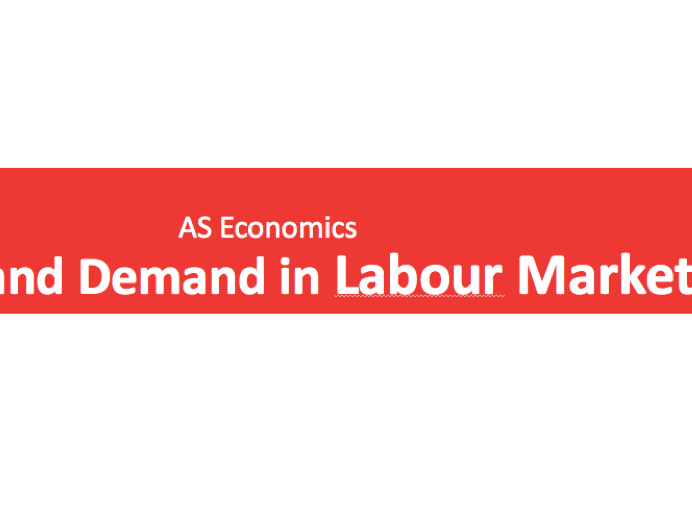 A Level Economics Labour Markets