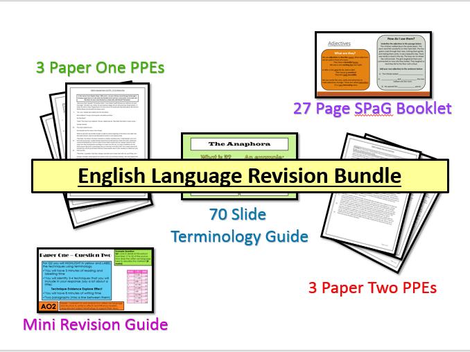 English Language Exam Practice & Revision Guide Bundle (AQA, 9-1 GCSE)
