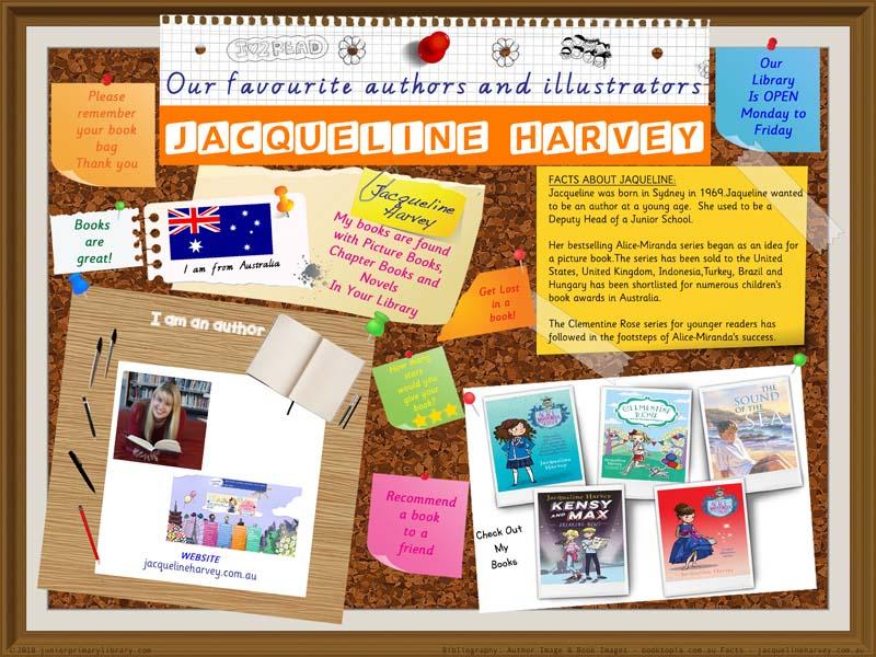 Library Poster - Jacqueline Harvey Australian Author Of Children's Books