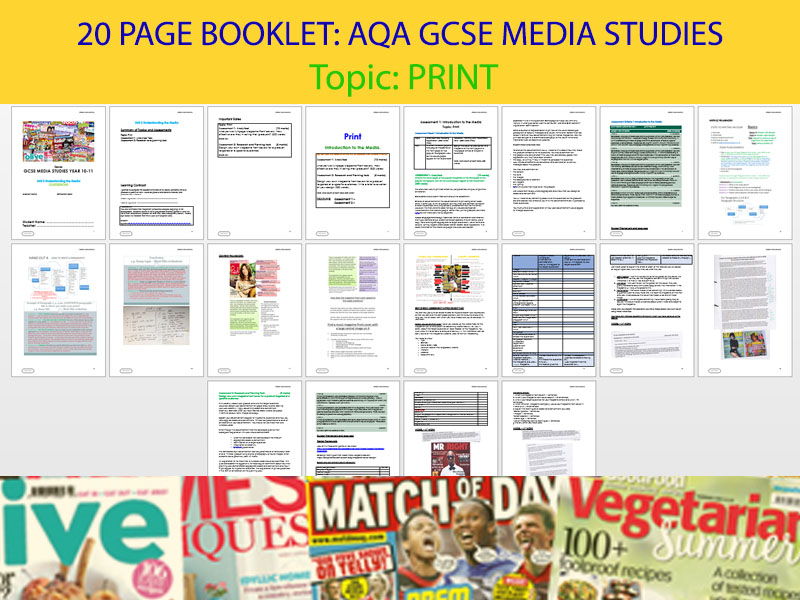 MEDIA PACKS COMPLETE  AWESOME BOOKLETS USED IN TEACHING THE MEDIA STUDIES COURSE!