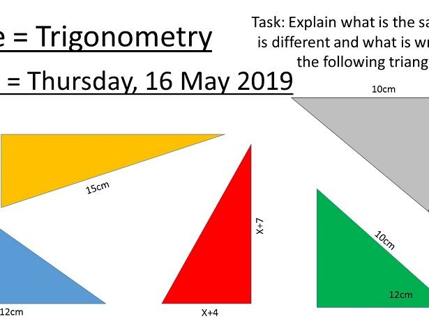 MASTERY MATHS TRIGONOMETRY - INTRODUCTION