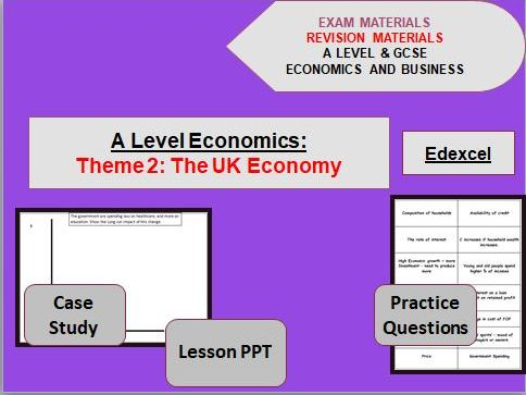 Theme 2 Economics Bundle: The UK Economy - policies and performance