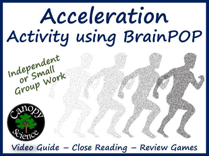 Acceleration Activity using BrainPOP