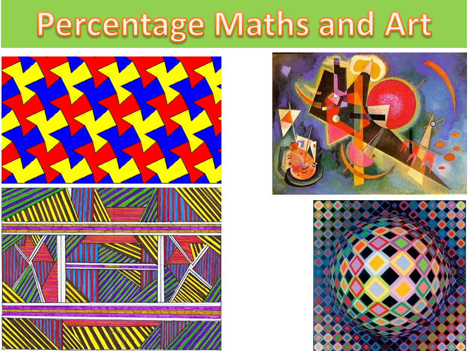 Fractions Decimals and Percentage maths and Art