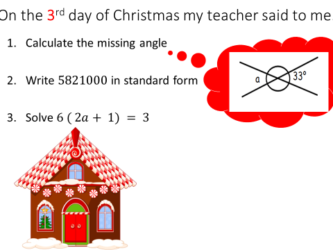 Revision task - The 12 days of Christmas