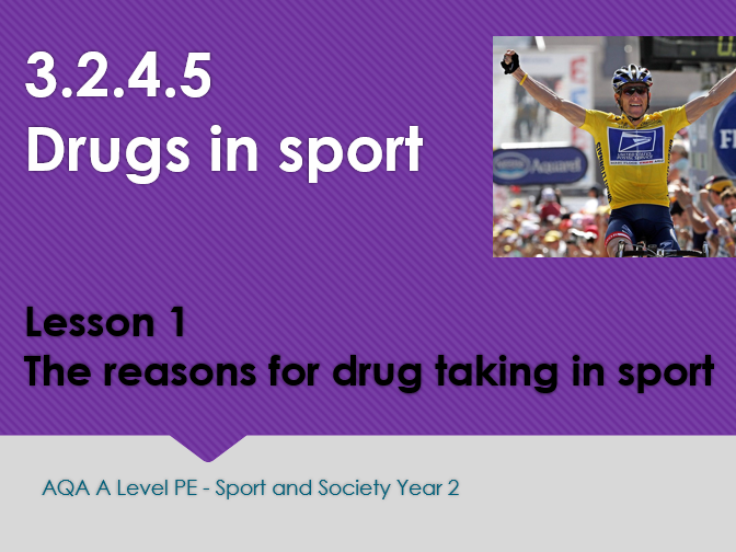 NEW A LEVEL PE AQA (Year 2) Ethics in sport, Violence in sport and Drugs in sport