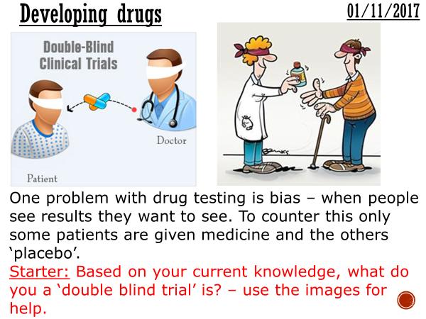 Developing drugs- complete lesson (KS4)