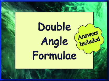 Double Angle Formulae - With answers