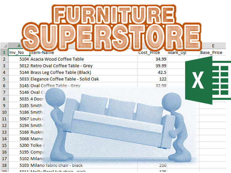 Furniture Superstore It Level 1 Spreadsheets Excel Exam Style Task