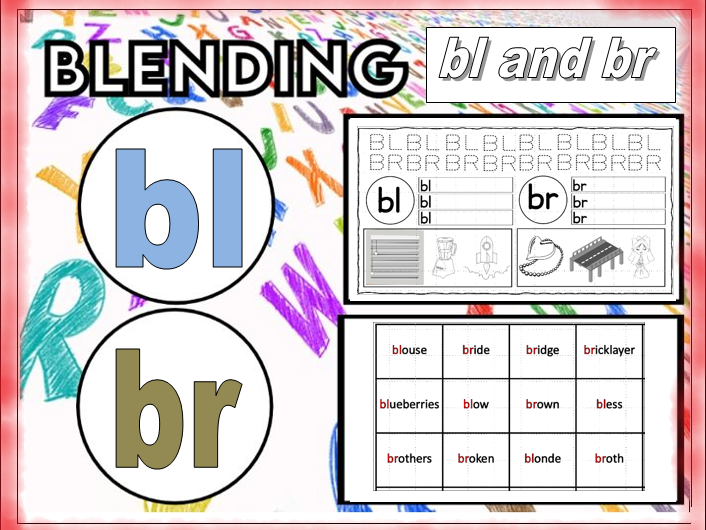 Blending Bl and Br Worksheets KS1