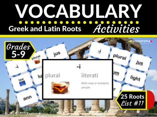 Greek and Latin Roots Activities-Vocabulary List #11