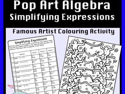 Simplifying Expressions Colour by Number Activity