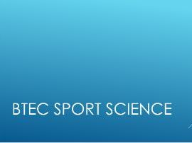 BTEC Sport: Anatomy & Physiology (Full unit with PowerPoint, worksheets & Unit Plan)