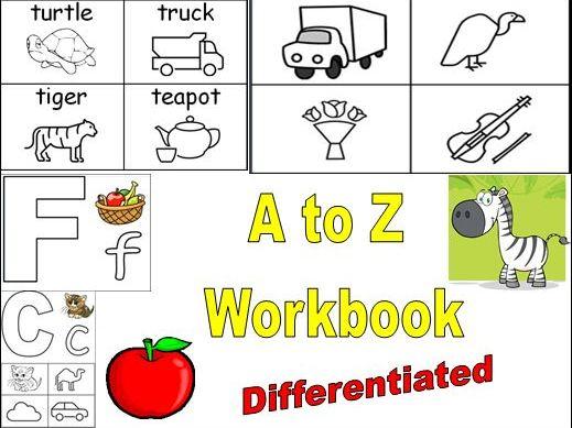 Alphabet Workbook Differentiated