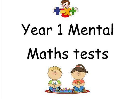 Year 1 Mini Maths Tests
