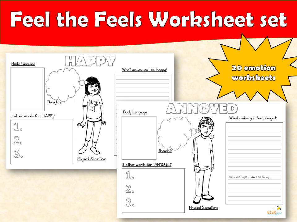 ELSA SUPPORT - Feelings and emotions worksheets
