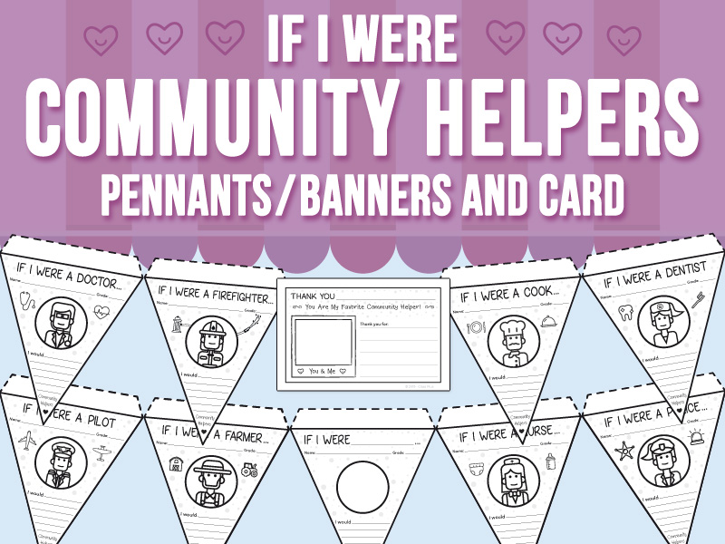 If I Were - Community Helpers Pennants/Banners and Card