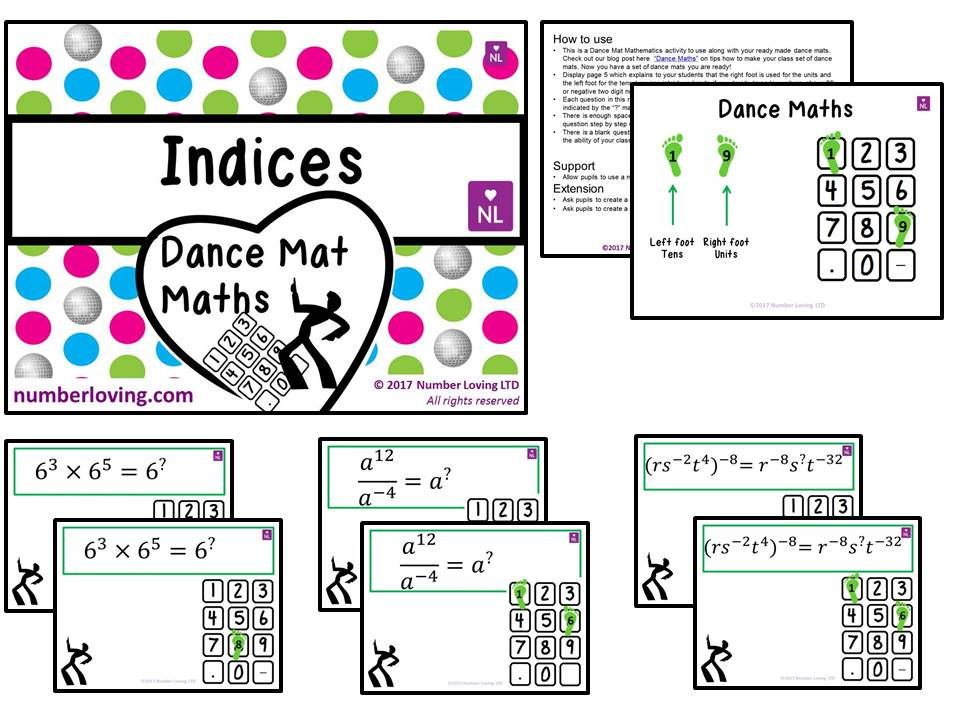 Indices (Dance Mat Maths)