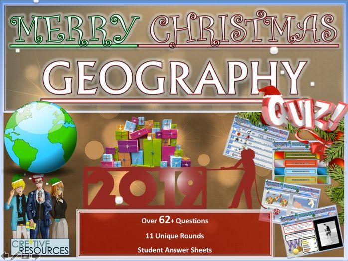 Geography Christmas Quiz 2019