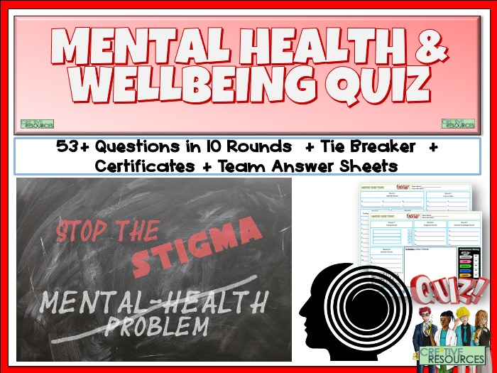 Mental Health and Wellbeing Quiz