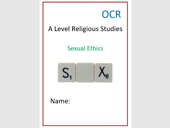 OCR Religion and Ethics: Sexual Ethics Workbook