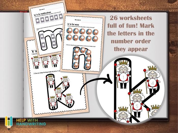 Printed alphabet worksheets - Bingo Style