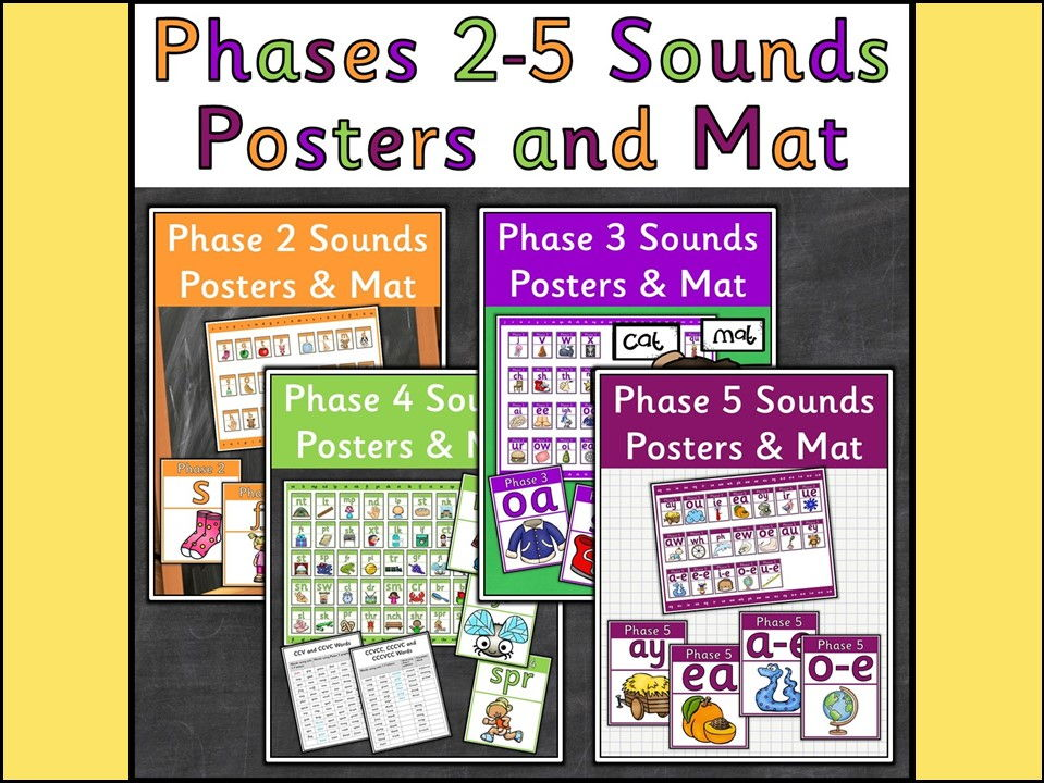 Phases 2-5 Sounds Posters and Desktop Mats Bundle