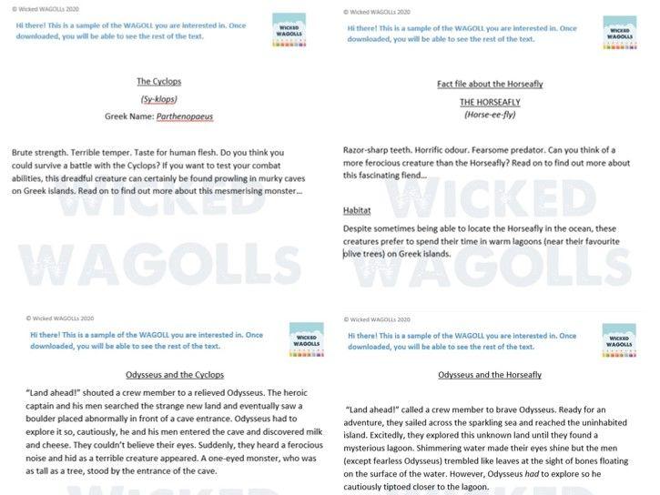 Ancient Greeks WAGOLL Bundle by Wicked WAGOLLs