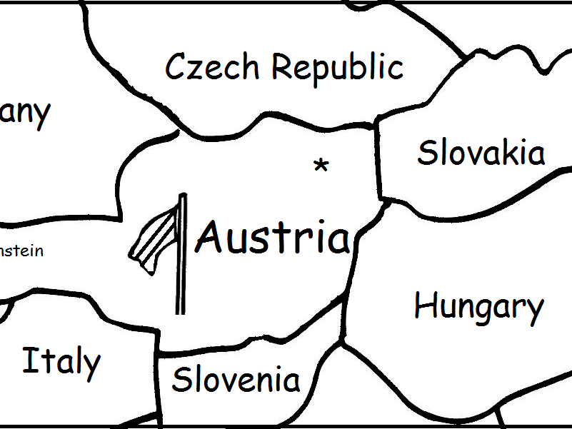AUSTRIA - Printable packet includes a map to color