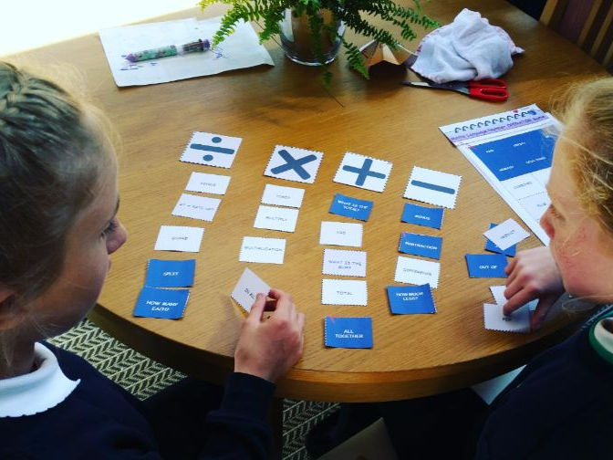 Maths Language Understanding - Arithmetic (+ x - / )   Language Matching GAME for  9 - 16 year olds