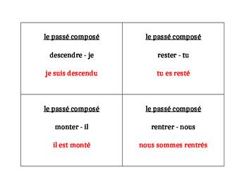 Passé composé avec être verbs Question Question Pass activity
