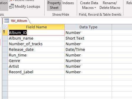 BTEC National IT, Unit 2 (New 2020 exam): Music database