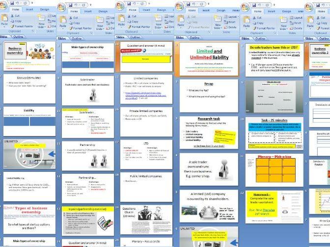 AQA GCSE 9-1 Business - 1.2 Business ownership