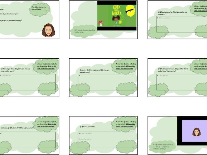 Primary Mindfulness PSHE: Ruby's worry read aloud story & activities